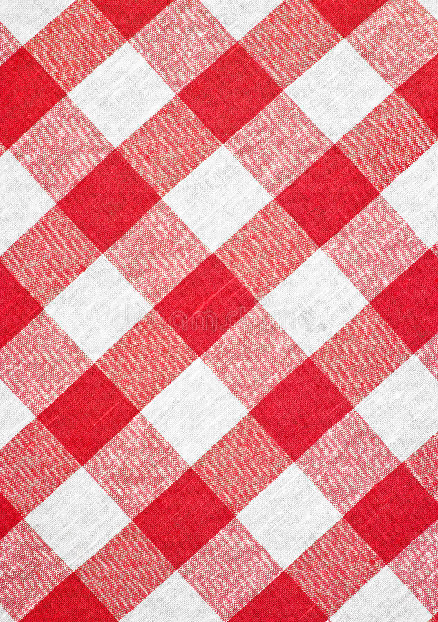 Download Red Checked Fabric Tablecloth Stock Photo - Image: 16876008