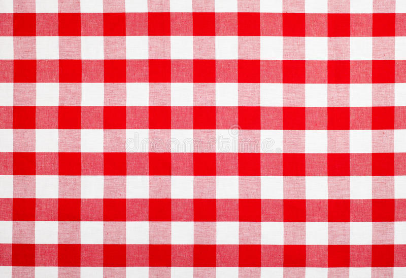 Download Red Checked Fabric Tablecloth Stock Photo - Image: 23211858