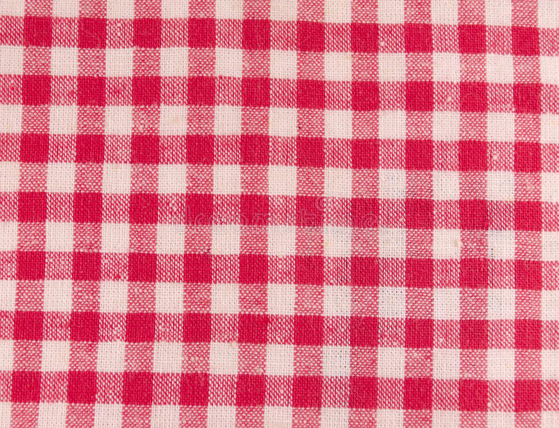 Download Red checkered fabric stock photo. Image of detail, background - 30319222