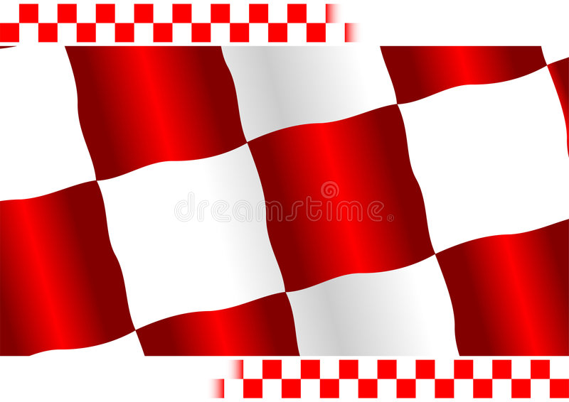 Download Red checkered flag stock vector. Illustration of tournament - 5086191