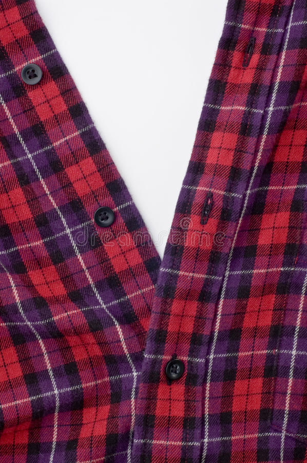 Download Red checkered shirt stock image. Image of apparel, collar - 23623571