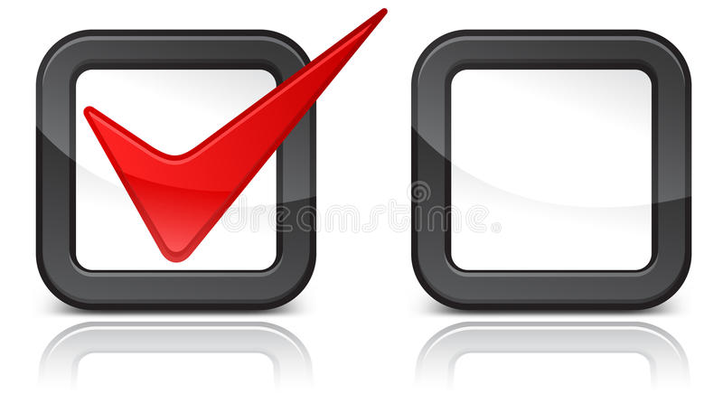 Red Checkmark Stock Image