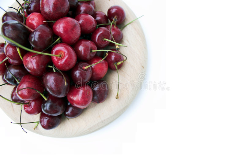 Download Red Cherries stock image. Image of stem, purple, fruit - 161963