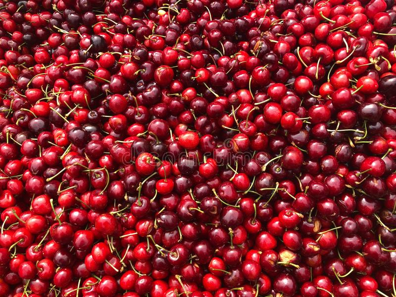 Red Cherries - Market Stall royalty free stock photo