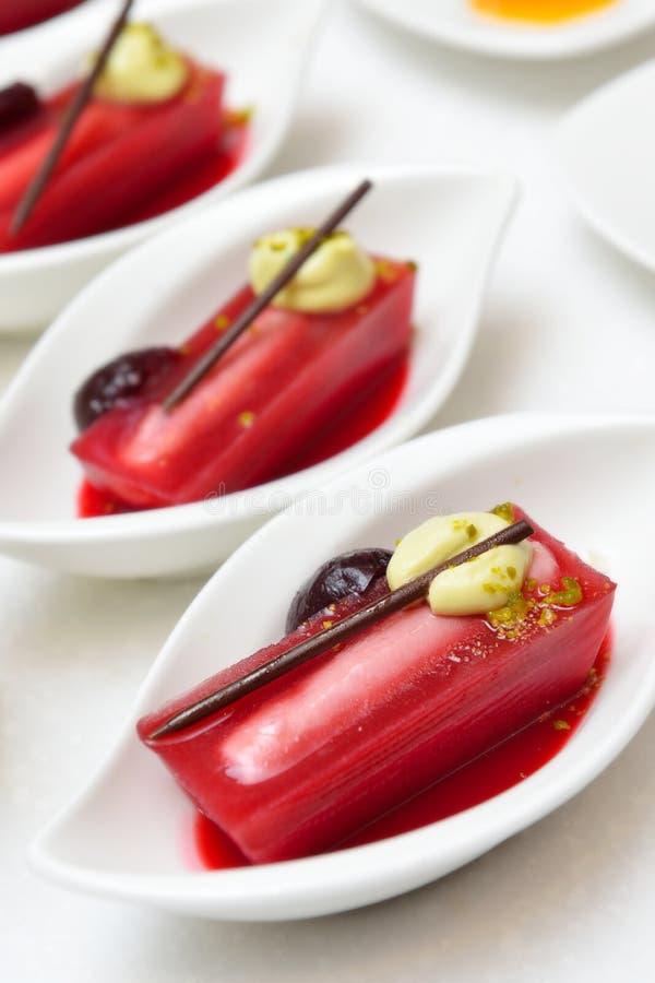 Red Cherry Dessert stock photo