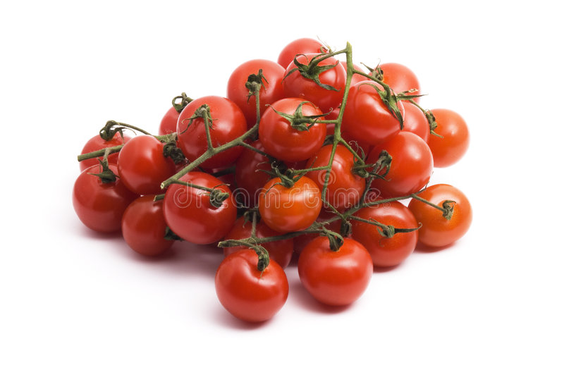 Red cherry tomato royalty free stock image