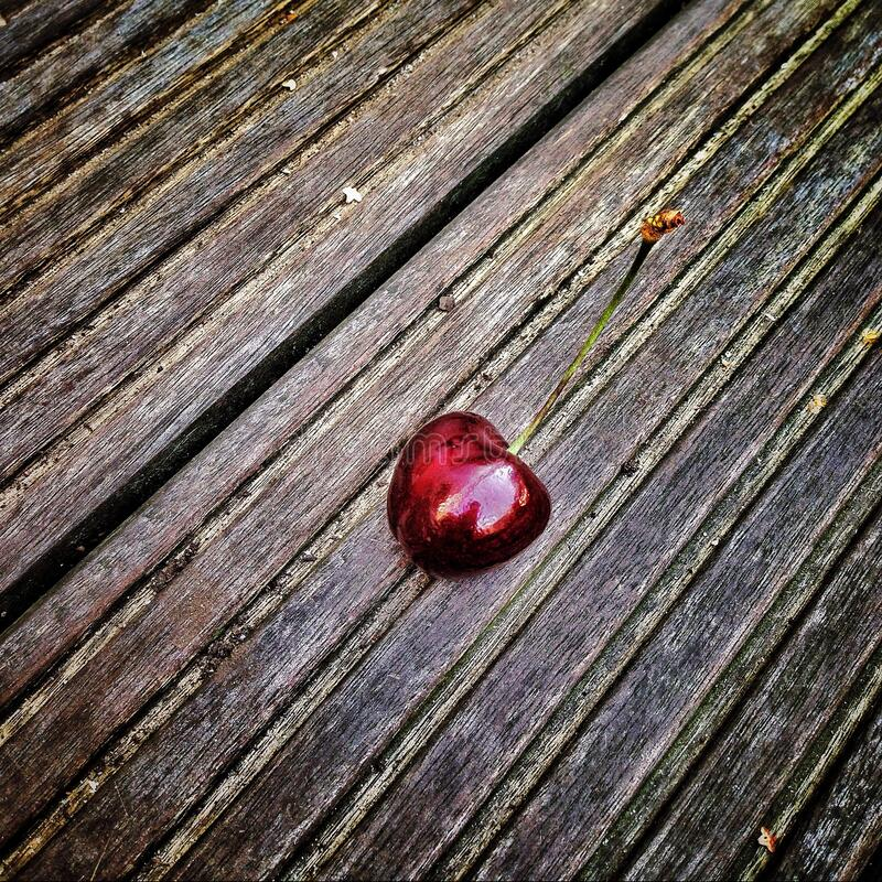 Red Cherry On Wooden Surface Free Public Domain Cc0 Image