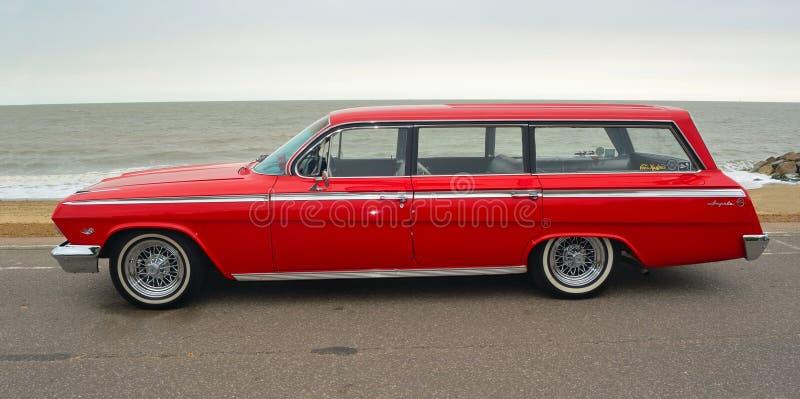 Red Chevrolet Impala Station Wagon royalty free stock photography