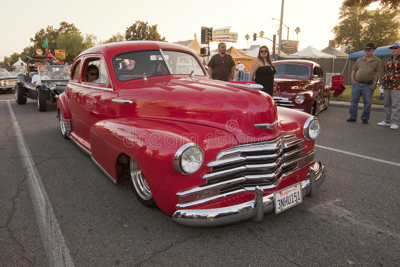 Red Chevy Fleetline Classic Car royalty free stock photography