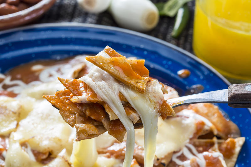 Red Chilaquiles royalty free stock photo