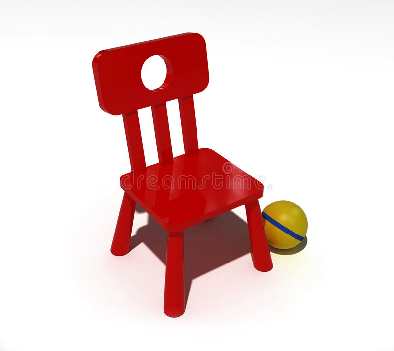 Red child chair royalty free illustration