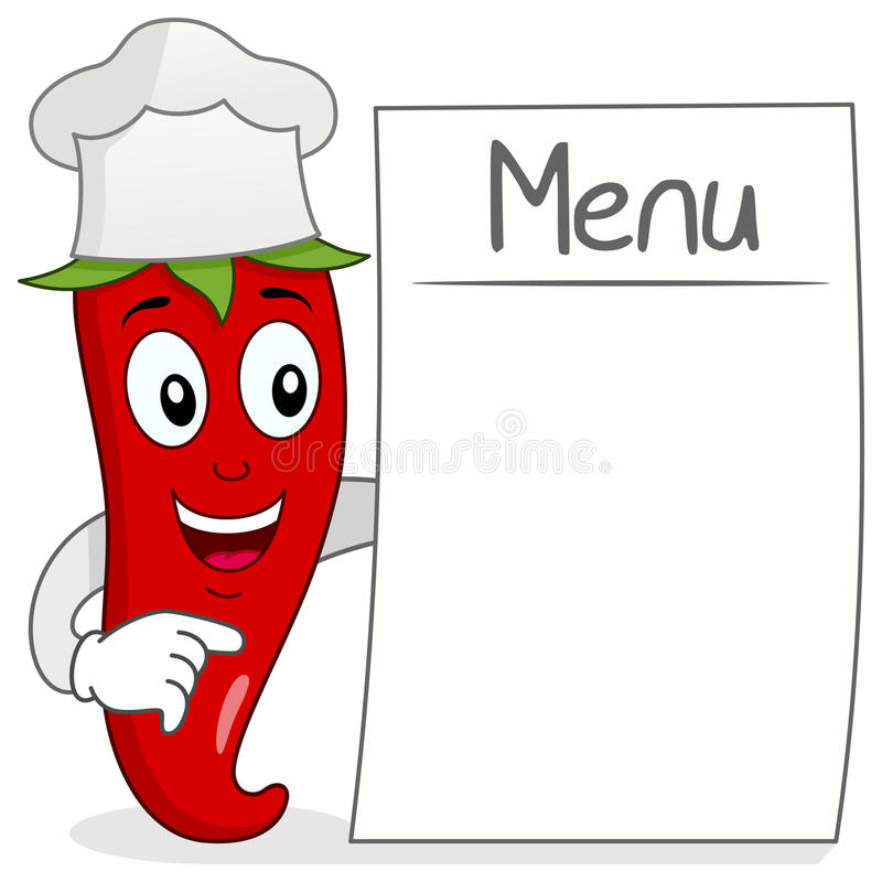 Download Red Chili Pepper With Blank Menu Stock Vector - Illustration of cooking, abstract: 42021700