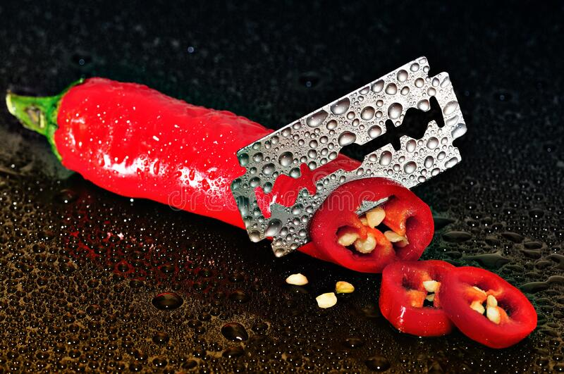 Red Chili Pepper Sliced By A Blade Free Public Domain Cc0 Image
