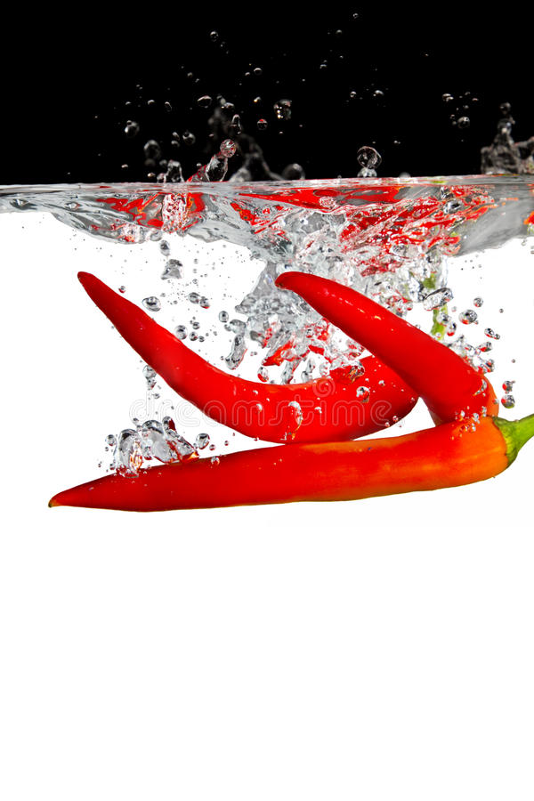 Free Red Chilli In Water Stock Image - 13868961