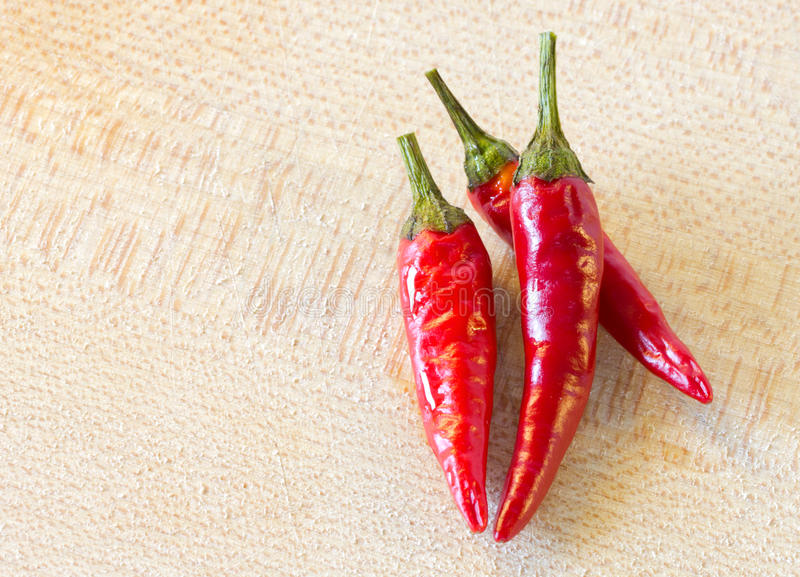 Red chilli peppers stock photo