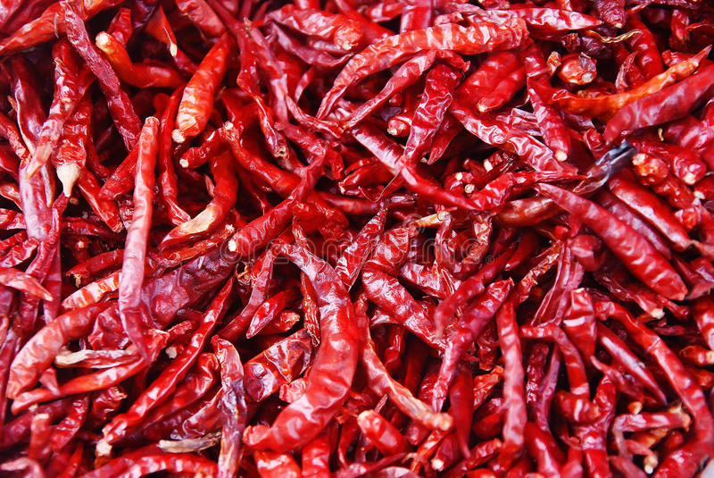 Red chilly pepper pile