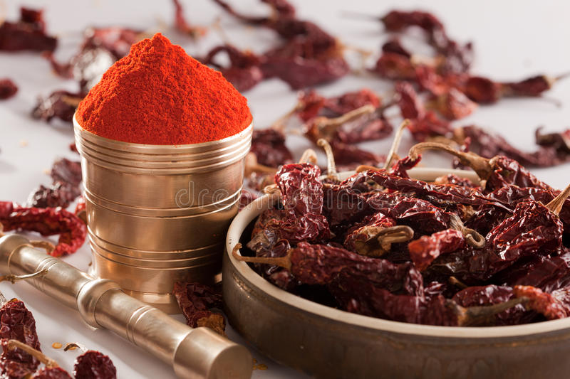 Red Chilly powder. stock image