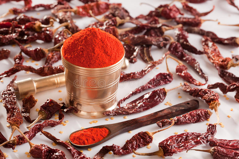 Red Chilly powder. stock photo