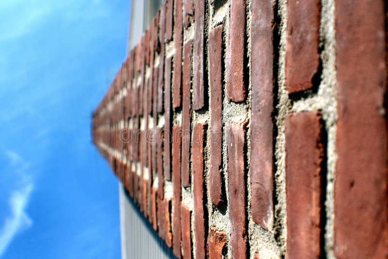 Red chimney and blue sky royalty free stock image