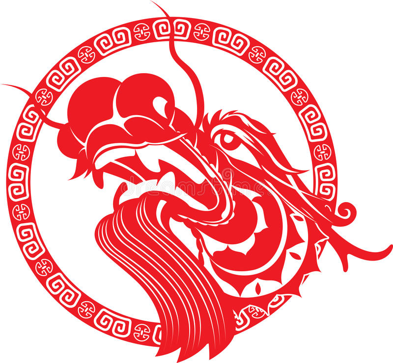 Free Red Chinese Dragon Head Art Stock Photography - 29947362