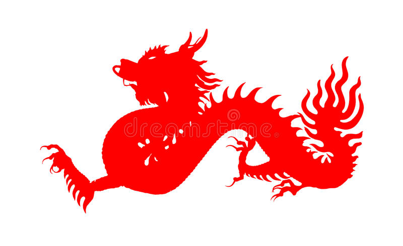 Red Chinese Dragon Symbol Of The Year Stock Illustration