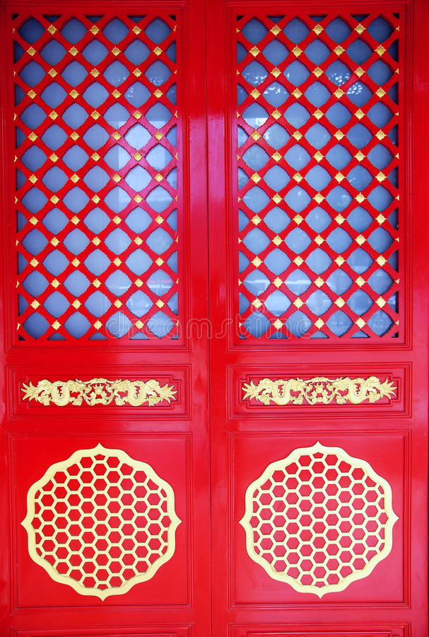 Download Red Chinese gate stock image. Image of huge, designs - 14860597
