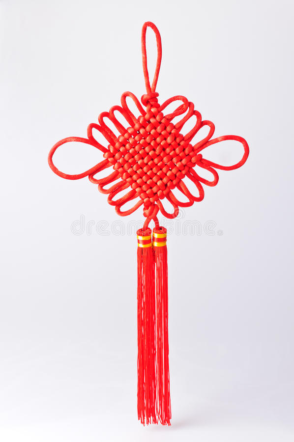 Red Chinese knot royalty free stock images
