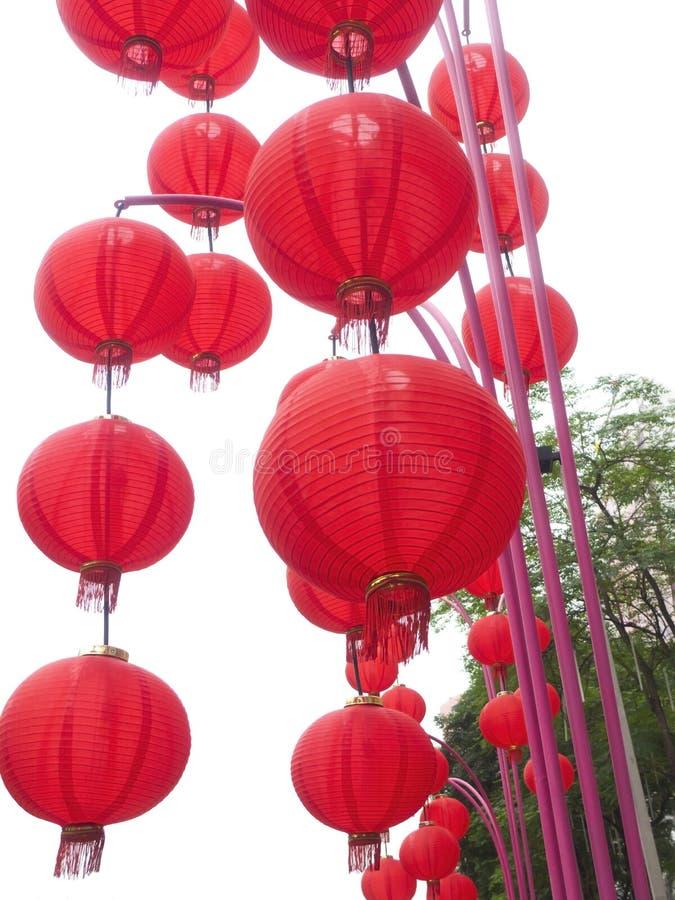 Red Chinese Lanterns. Royalty Free Stock Image