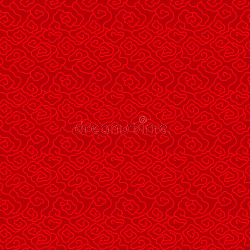 Red Chinese vintage cloud seamless pattern background vector design vector illustration