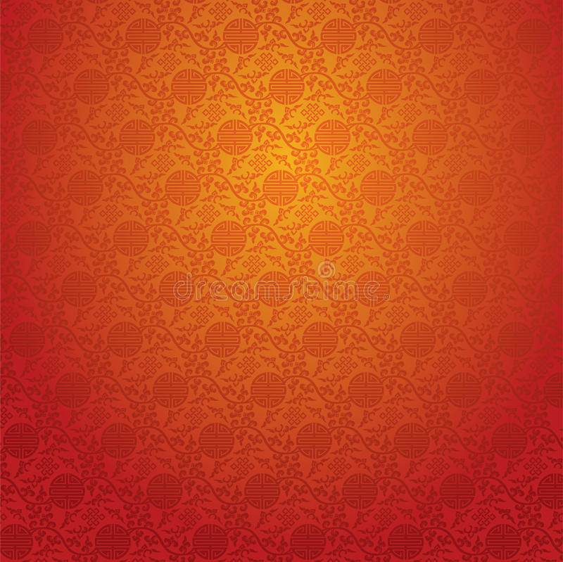Red Chinese Wallpaper Stock Vector Illustration Of Exotic