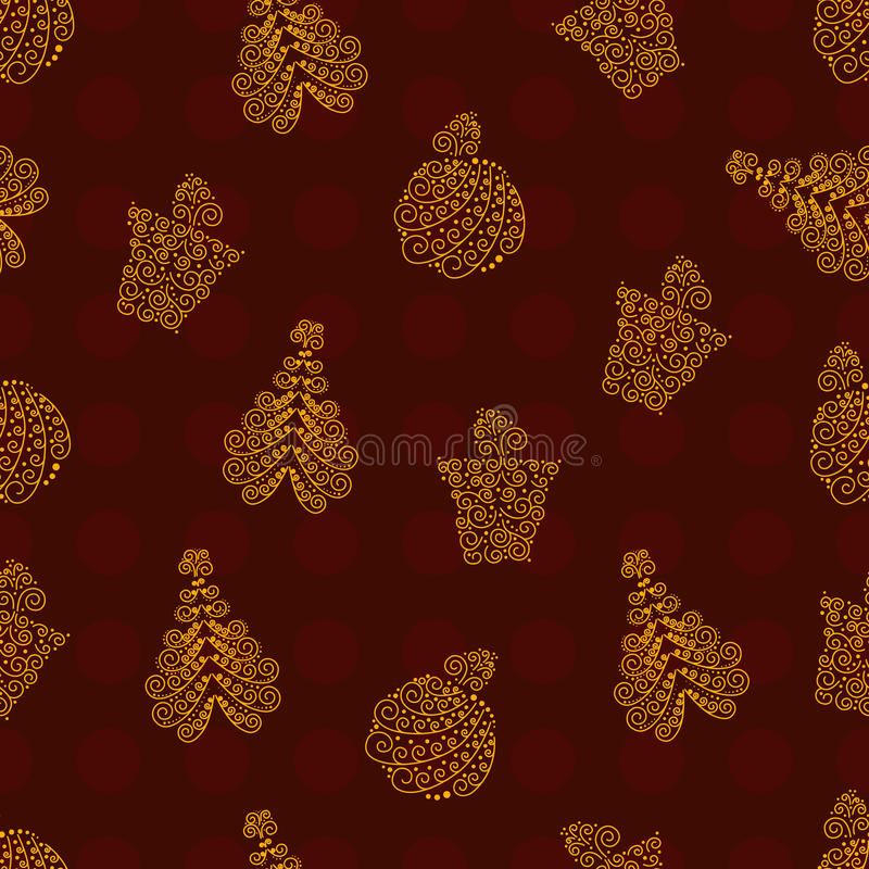 Red Chirstmas pattern royalty free illustration