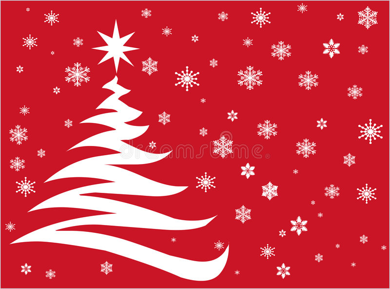 Red Christmas vector illustration