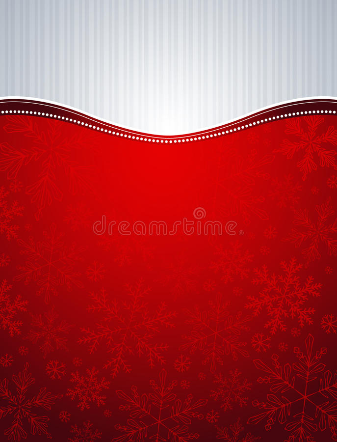 Red christmas background, royalty free illustration