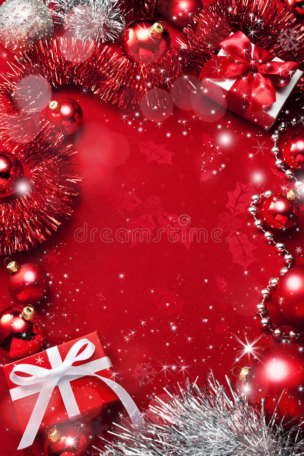Free Red Christmas Background Stock Photography - 45675082