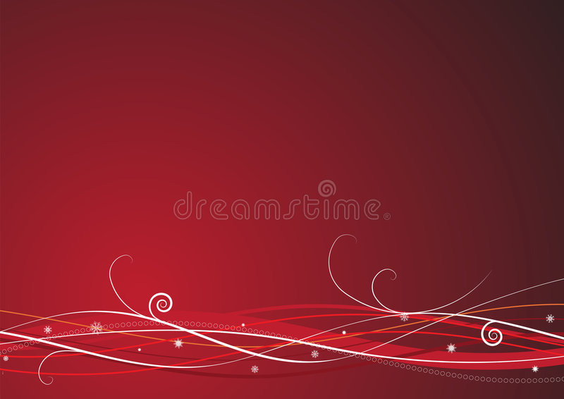 Download Red Christmas background stock vector. Illustration of floral - 6572629