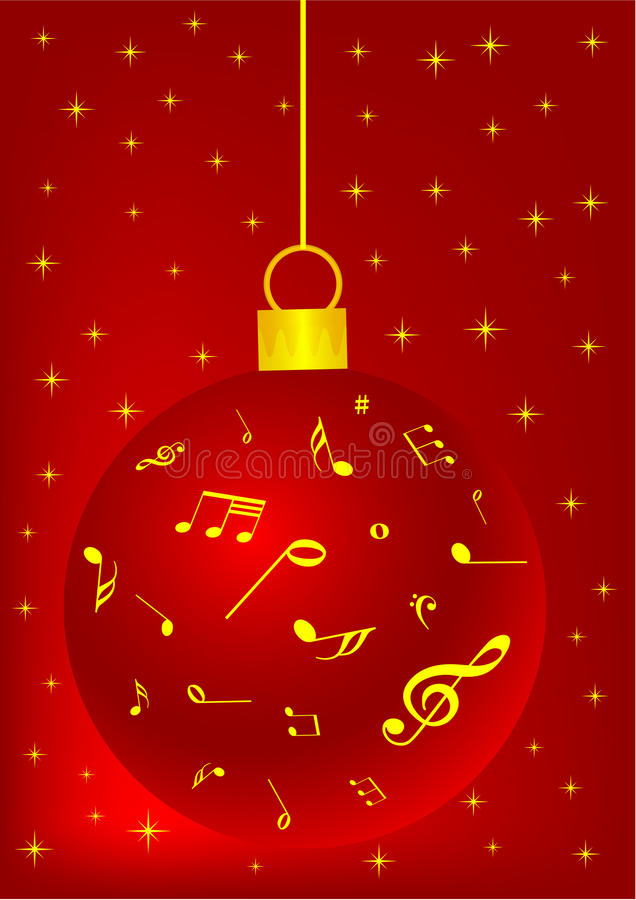 Red Christmas background with ball vector illustration