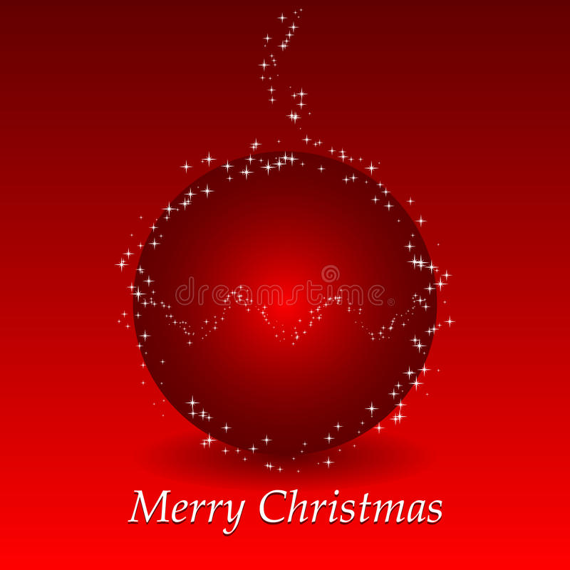 Download Red Christmas Background With Ball And Stars Stock Vector - Image: 12028360