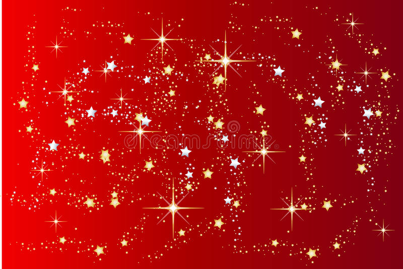 Download Red Christmas Background With Stars Stock Vector - Image: 10010068
