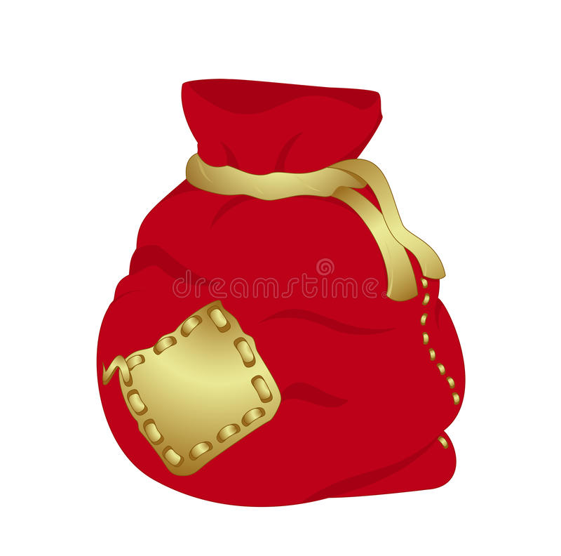 Red Christmas bag stock images