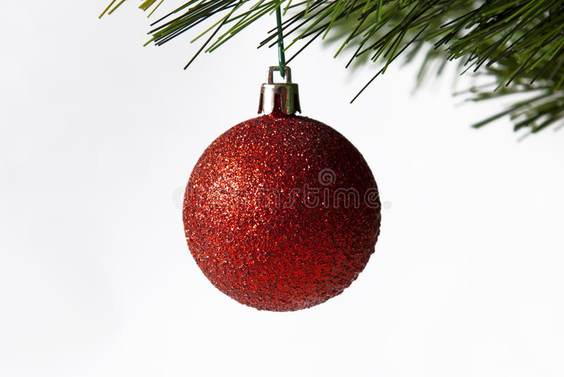 Download Red Christmas ball stock image. Image of glass, white - 22366043