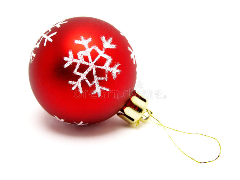 Download Red christmas ball stock photo. Image of object, balls - 249742