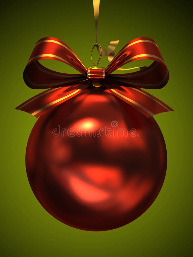 Download Red Christmas Ball Royalty Free Stock Photos - Image: 27988988