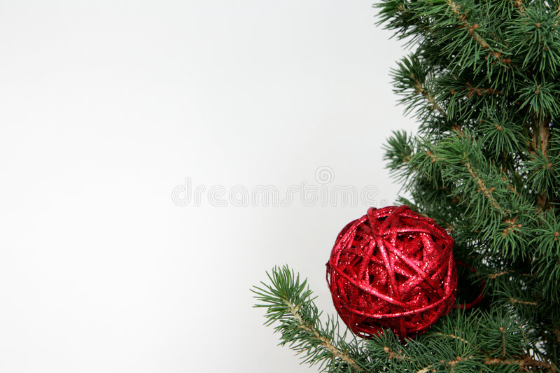 Download Red christmas ball stock image. Image of background, satin - 3307297