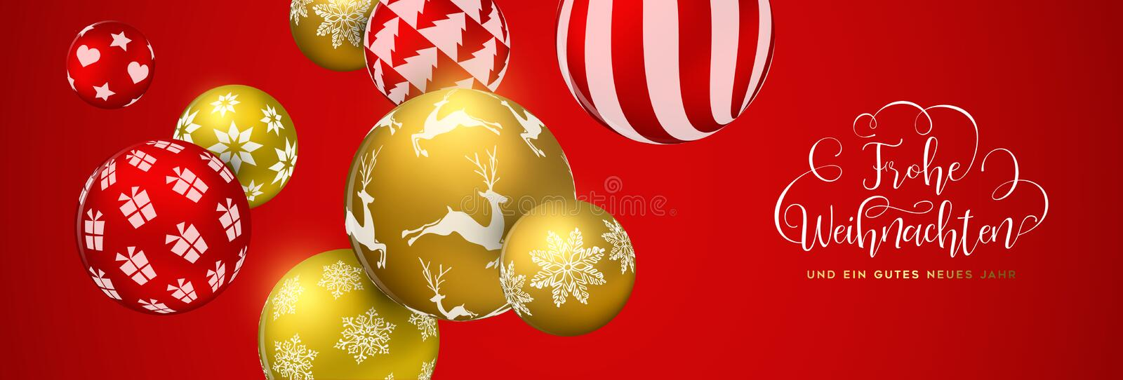 How Do You Say Merry Christmas In German.Merry Christmas In German Language Stock Vector