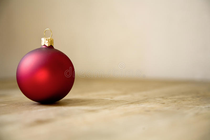Red christmas ball decoration. Christmasy xmas style tree decoration stock photos