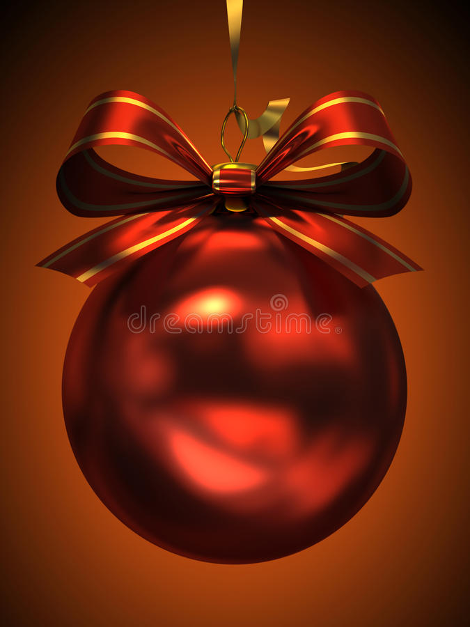 Download Red Christmas Ball Isolated Stock Illustration - Image: 27988989