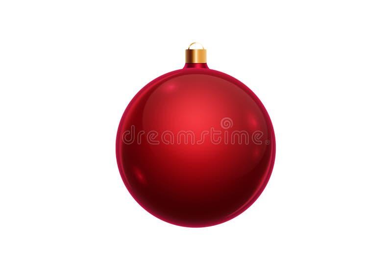 Red Christmas Ornaments.Red Christmas Ornaments Background Stock Illustration