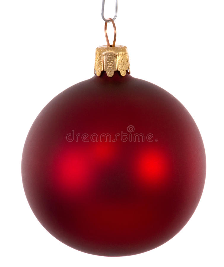 Free Red Christmas Ball Ornament Stock Photo - 45835860