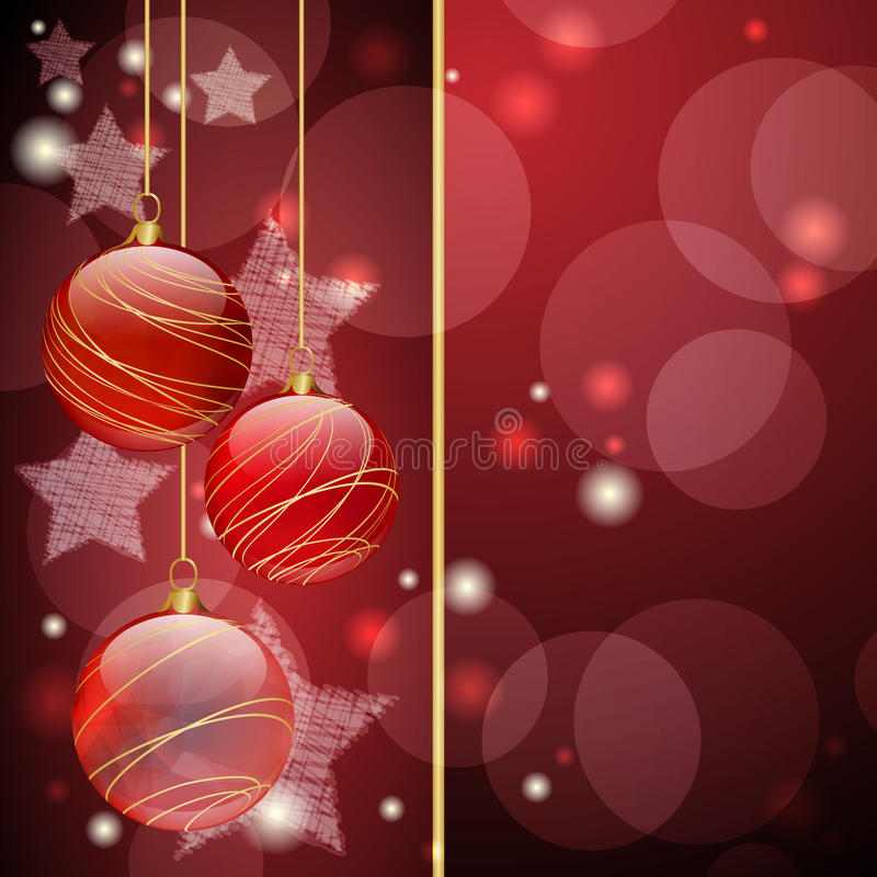 Download Red Christmas balls stock vector. Image of greeting, festive - 21064876