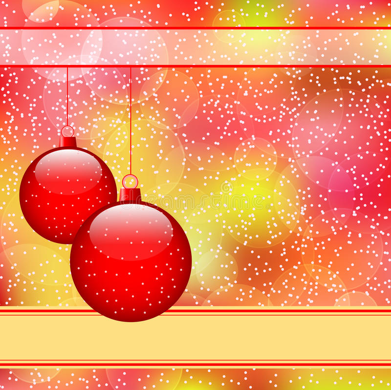 Red christmas balls stock illustration